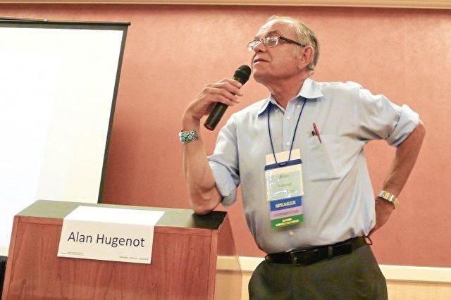 Dr. Alan Hugenot spricht auf der IANDS 2014 Conference über die Wissenschaft des Lebens nach dem Tod  in Newport Beach.
