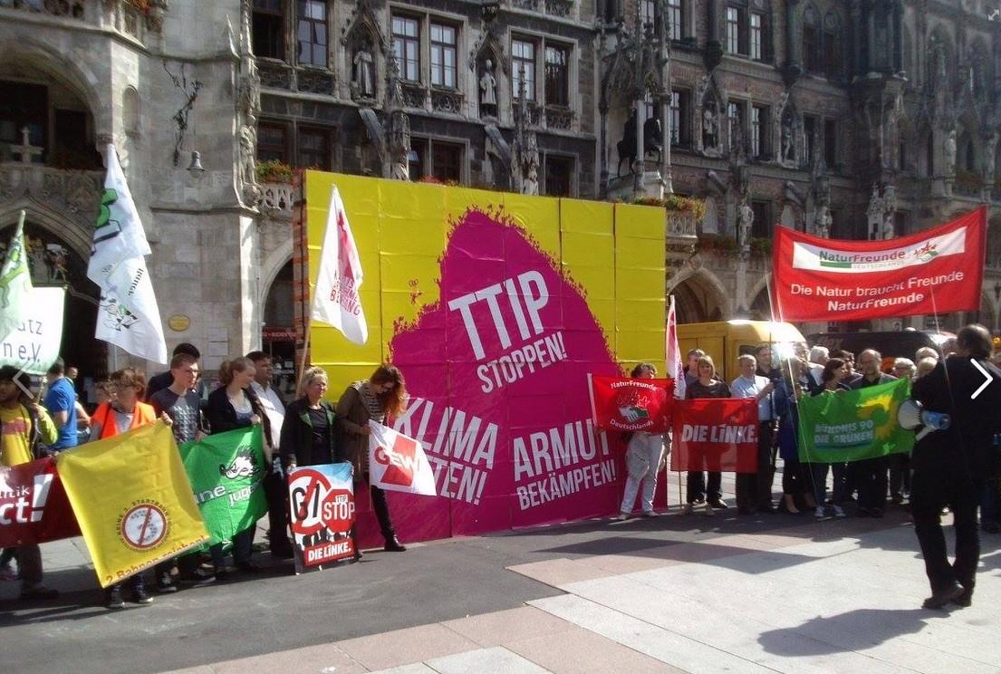 Demo gegen TTIP und weitere Proteste um G7 und Bilderberger