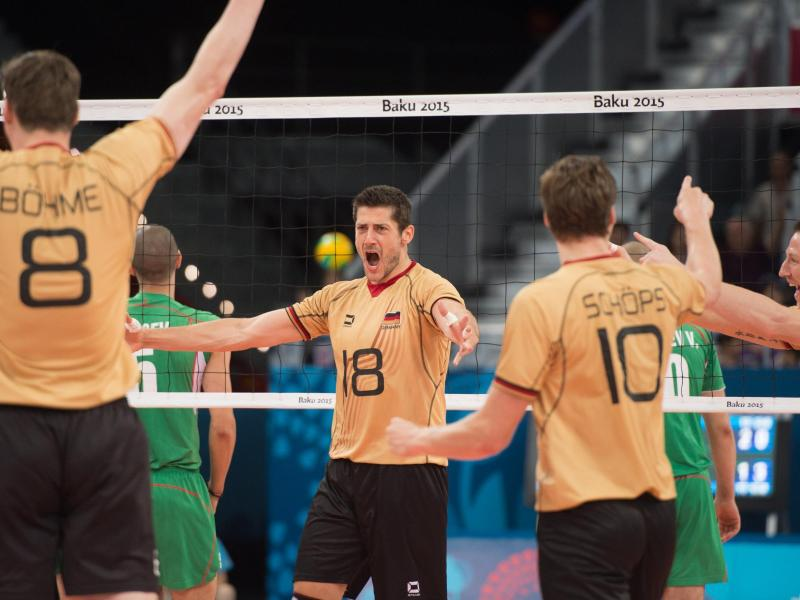 Volleyballer holen Gold bei Europaspielen