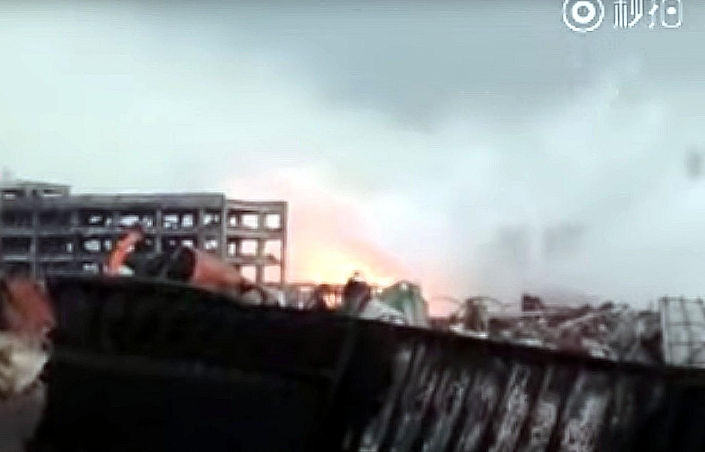 Tianjin-Inferno: Neue Explosion erschüttert Unglücksort – VIDEO
