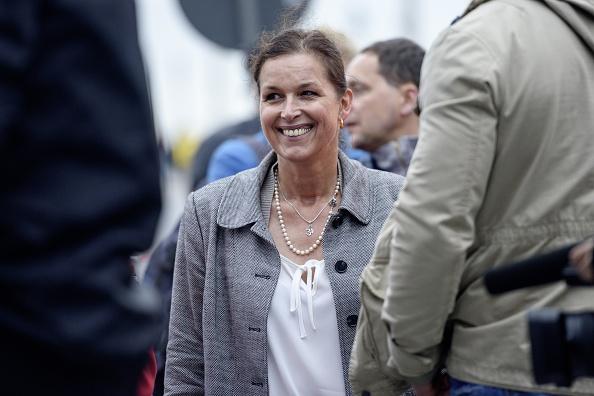 Tatjana Festerling forderte Polizei, Bundeswehr und Zivilgesellschaft angesichts der Merkel-Politik und Flüchtlingskrise zum Ungehorsam auf. Foto: JENS SCHLUETER/AFP/Getty Images