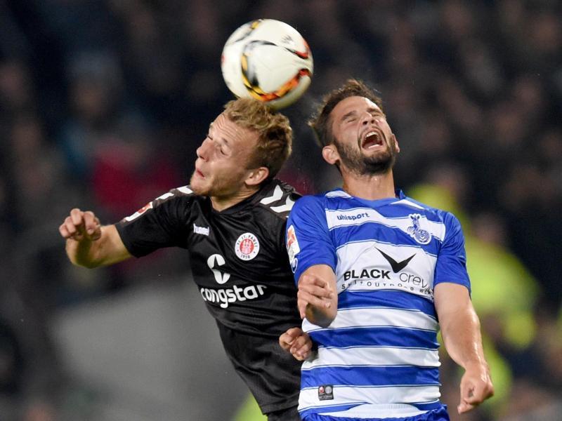 St. Pauli nach 2:0 gegen Duisburg auf Rang drei