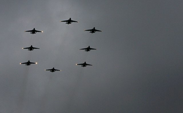 Russische Kampfflugzeuge Foto: SERGEY VENYAVSKY/Getty Images