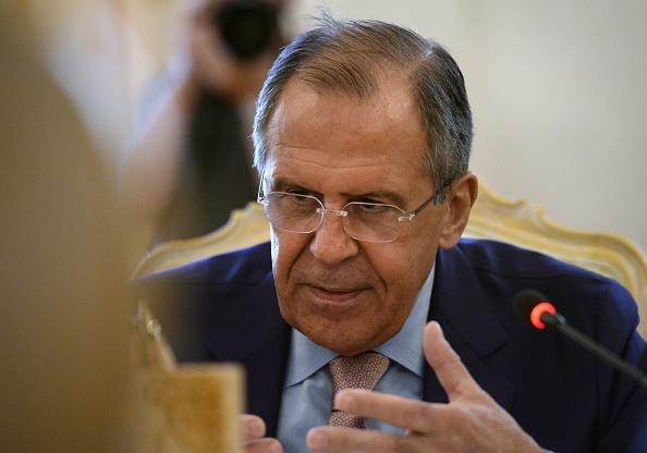 Russischer Außenminister Sergei Lawrow Foto: YURI KADOBNOV/Getty Images
