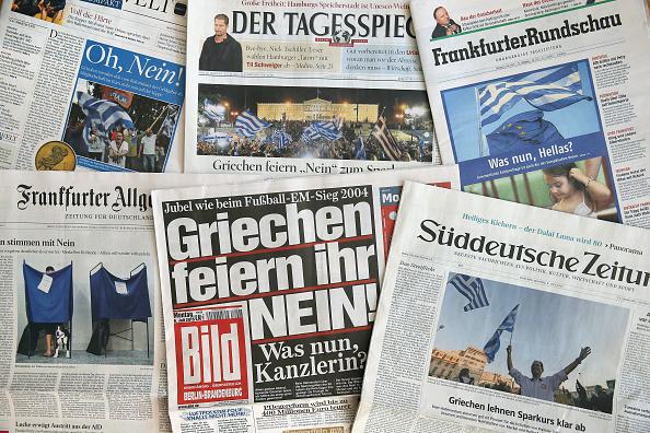 Deutsche Zeitungen Foto: Sean Gallup/Getty Images