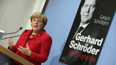 Flüchtlingskrise: Altkanzler Schröder verteidigt Merkel
