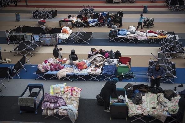 Flüchtlingslager im Berliner Olympia Stadium. Foto: ODD ANDERSEN/AFP/Getty Image