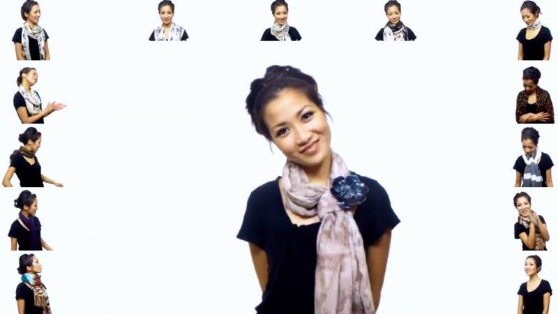e85cc659a871be 25 geniale Arten einen Schal zu binden. Diese Frau zeigt Dir, wie einfach  es geht.