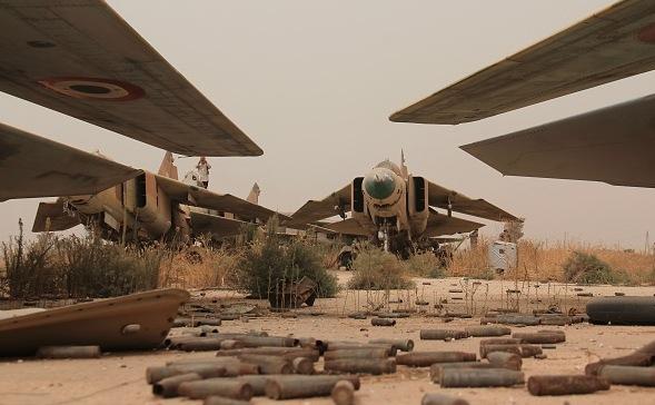 Syrische MiG-23-Kampfjets Foto: OMAR HAJ KADOUR/Getty Images