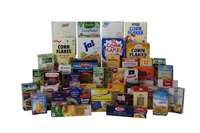 Mineralölrückstände durch Verpackungen. Foto: foodwatch: Produkte-im-Mineralöltest/Pressematerial