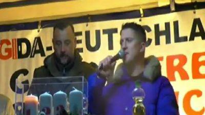 """Tommy Robinsons Anti-Terror-Rede bei Pegida: """"Wir wollen ein Europa ohne Angst"""""""