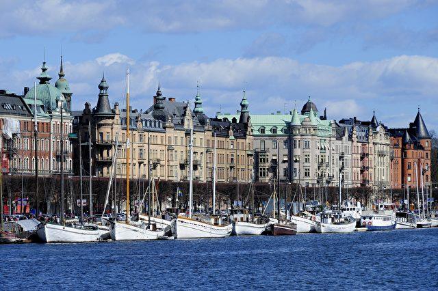 Bis 2030 wird Schweden ein Dritte-Welt-Land, sagen die Vereinten Nationen. Dann könnte es hier anders aussehen: Boote an Stockholms Uferlinie Foto: OLIVIER MORIN/AFP/Getty Images