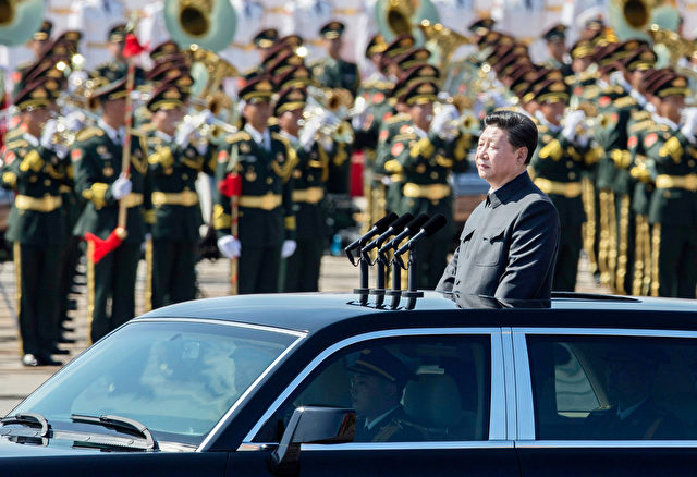Chinas Präsident Xi Jinping während der Parade am 3. September 2015 Foto:: Kevin Frayer/ghetty images