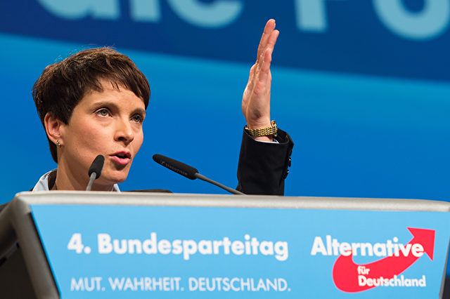 AfD-Chefin Frauke Petry am Parteitag in Hannover. Foto: Nigel Treblin/Getty Images