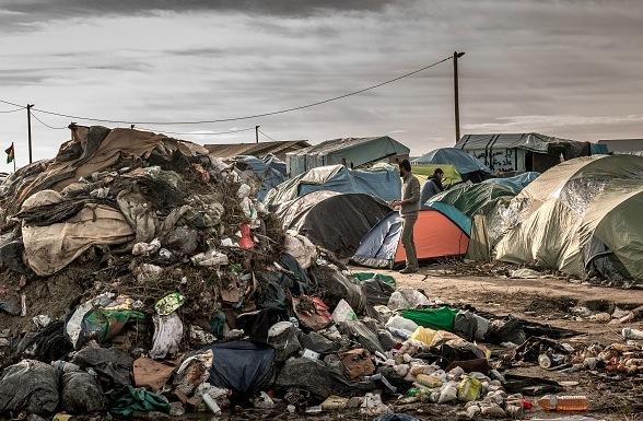 """Der """"Dschungel"""" Calais Foto: PHILIPPE HUGUEN/Getty Images"""