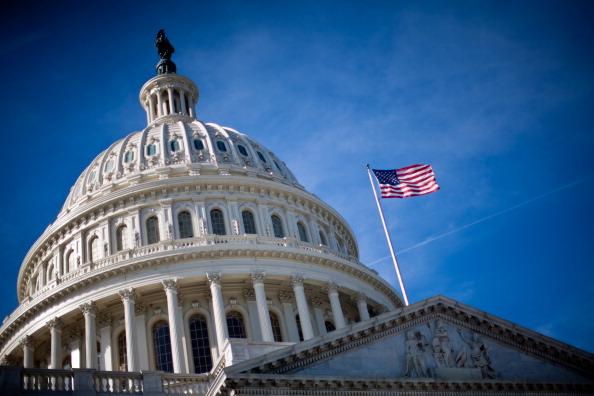 Das Kapitol in Washington. In ihm finden die Sitzungen des Senats und des Repräsentantenhauses statt.. Foto: Brendan Hoffman / Getty Images