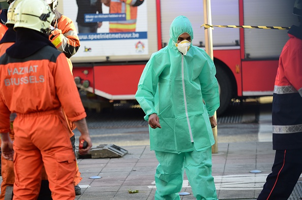 Chemie-Alarm: In der Großen Moschee von Brüssel wurde am 26.November ein verdächtiges Paket gefunden. Foto: EMMANUEL DUNAND / AFP / Getty Images