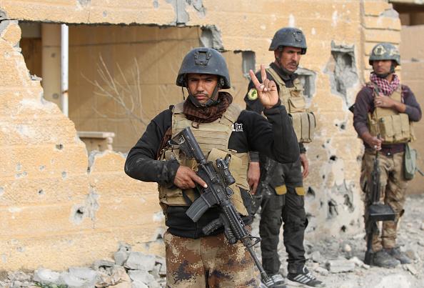 Irakische Spezial-Einheiten nach einem Erfolg gegen den IS in Ramadi am 27. Dezember. Foto: AHMAD AL-RUBAYE / AFP / Getty Images
