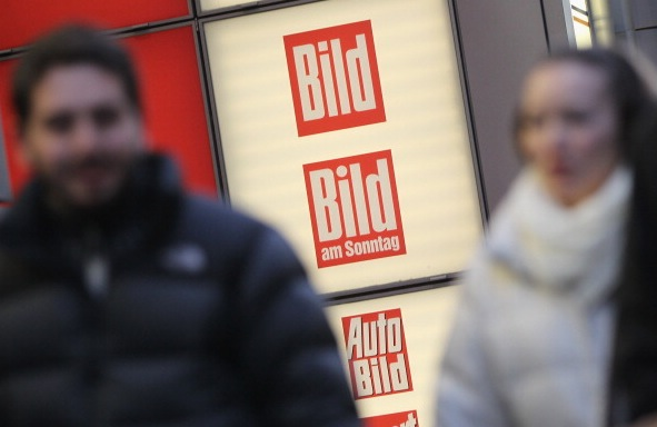 """Bild""-Zentrale in Berlin Foto: Sean Gallup/Getty Images"
