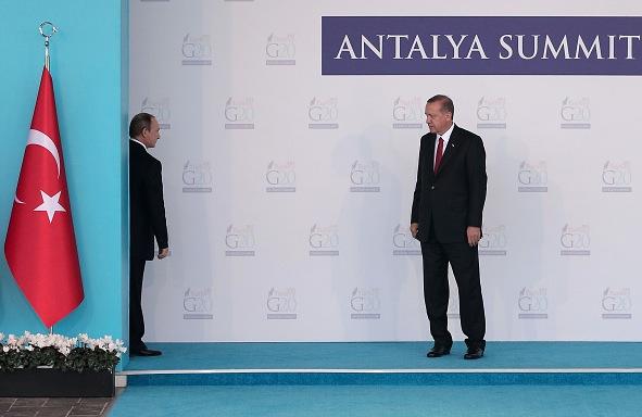 Russland Präsident Wladimir Putin (L) und der türkische Präsident Recep Tayyip Erdogan (R) beim Gipfeltreffen im November 2015 in Antalya, Türkei Foto: Chris McGrath/Getty Images