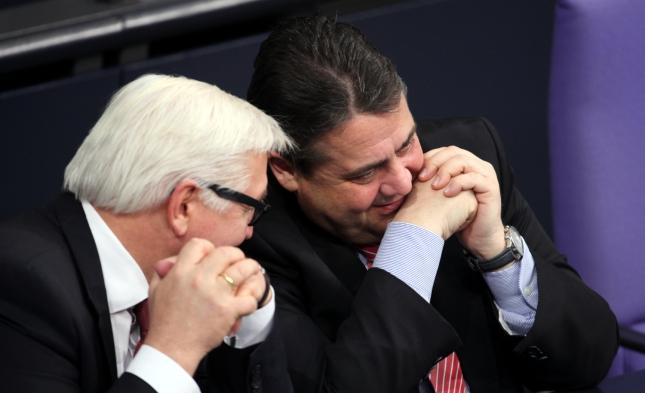 Die SPD denkt über ihren Kanzlerkandidaten nach: Steinmeier oder Gabriel