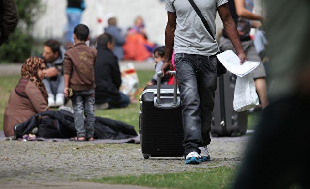 Flüchtlinge an einer Aufnahmestelle Foto: über dts Nachrichtenagentur