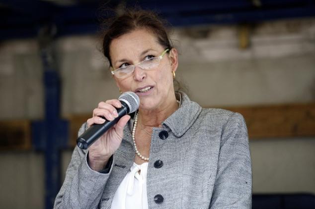 Pegida-Frontfrau Tatjana Festerling Foto: JENS SCHLUETER/AFP/Getty Images