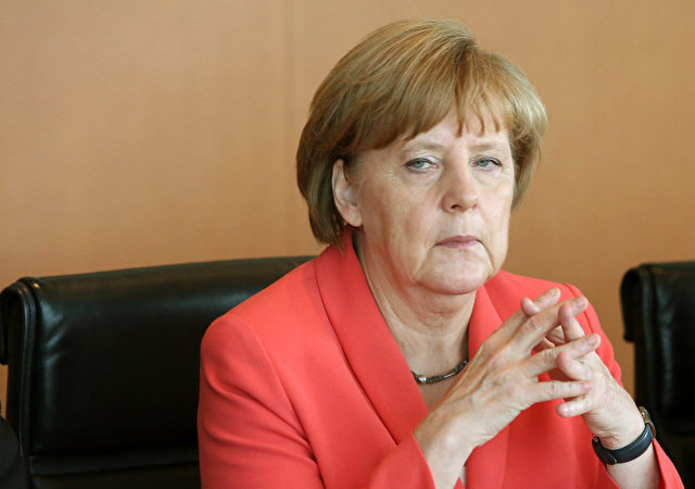 Die Deutsche Bundeskanzlerin Angela Merkel (CDU) in der Wochenbundeskabinettssitzung am 8. Juli 2015 in Berlin, Deutschland. Foto: Adam Berry / Getty Images