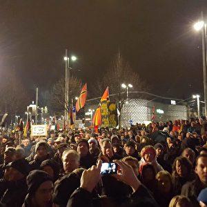 Legida Demonstranten Foto: Pegida