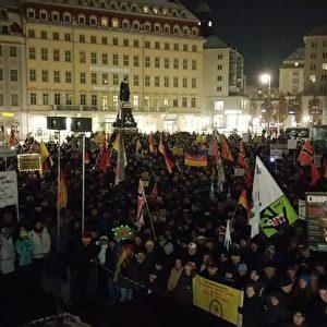 Pegida-Demo am 18.01.2016. Foto: Facebook Pegida