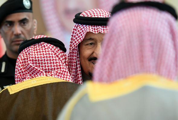 Salman bin Abdulaziz (M), König Saudi-Arabiens. Foto: FAYEZ NURELDINE/Getty Images