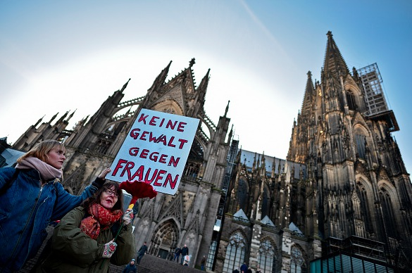 Proteste gegen die Übergriffe auf Frauen in der Silvesternacht in Köln und anderen Städten Europaweit Foto: Sascha Schuermann/Getty Images