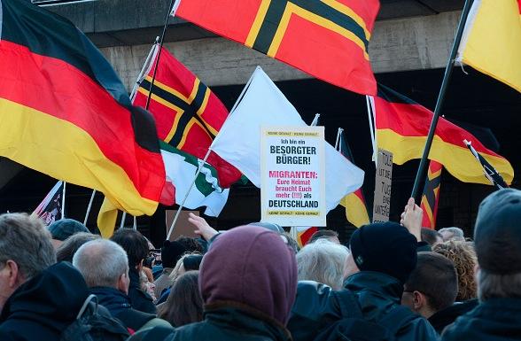 Pegida-Demo in Köln am 9. Januar 2016 Foto: ROBERTO PFEIL/Getty Images