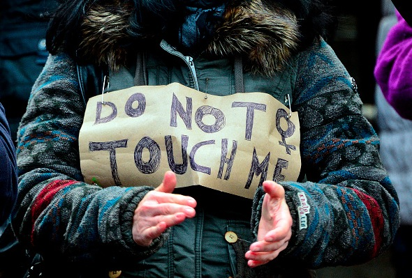 Protest gegen sexuelle Übergriffe auf Frauen, 9. Januar, Köln. Foto: Sascha Schuermann/Getty Images