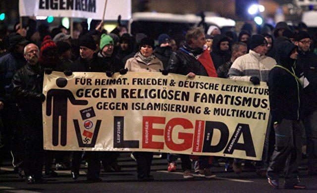 Legida-Demo am 21.01.2015 in Leipzig Foto: über dts Nachrichtenagentur
