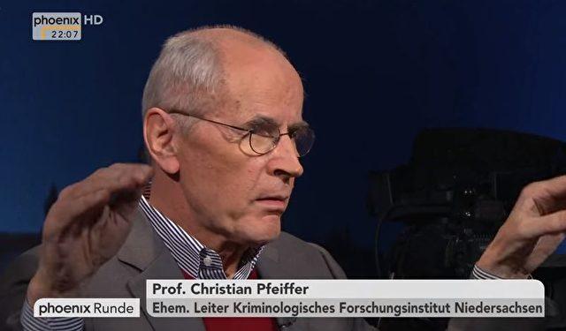 Kriminologe Christian Pfeiffer Foto: Screenshot/Youtube