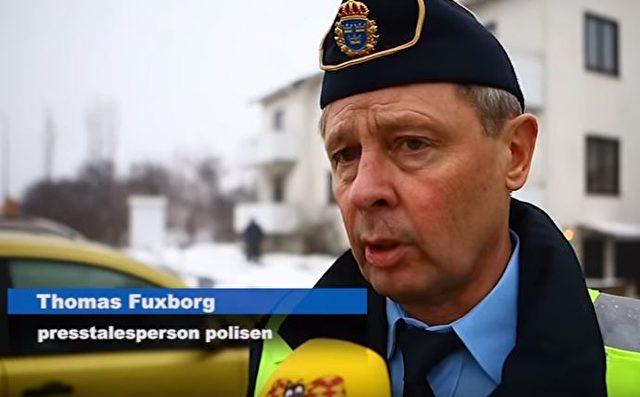 Thomas Fuxborg, Pressesprecher der schwedischen Polizei Foto: Screenshot/Youtube