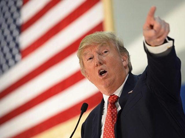 Der republikanische Präsidentschaftsbewerber Donald Trump bei einer Veranstaltung in Nashua, New Hampshire. Foto: CJ Gunther/Archiv/dpa
