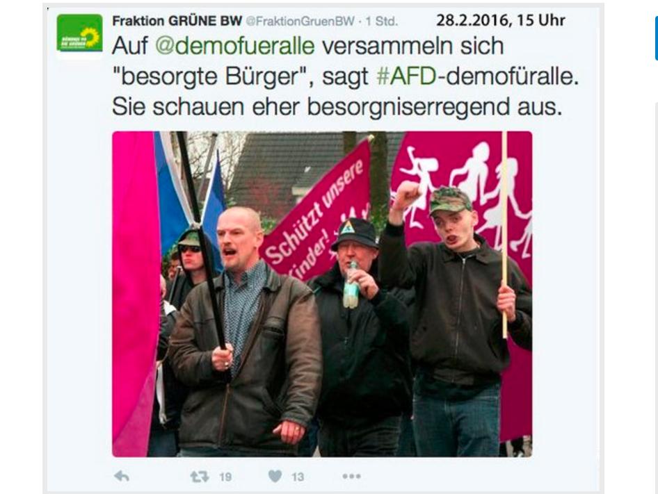 Tausende gegen Frühsexualisierung: Grüne veröffentlichen Fake-Foto von Rechten als Anti-Gender-Demonstranten