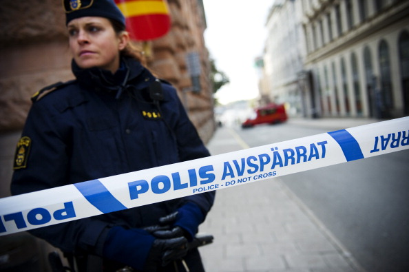 Polizistin bei einem Stockholmer Bombenalarm 2011. Foto: JONATHAN NACKSTRAND/AFP/Getty Images