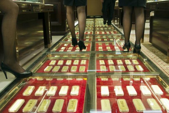 Wohin gehen Chinas riesige Goldimporte? Experten schätzen: In die Safes der Zentralbank. Foto: STR/AFP/Getty Images