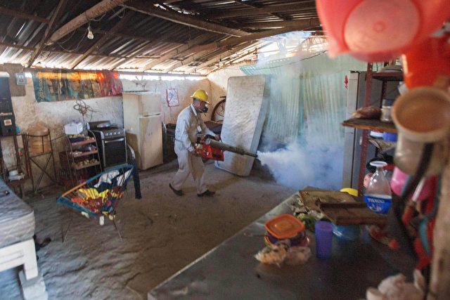 Überall werden Insektizide gegen Moskitos gesprüht, auch das Trinkwasser wurde behandelt Foto: PEDRO PARDO/AFP/Getty Images