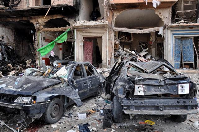 21. Februar 2016 in Homs, Zentralsyrien. Foto: STRINGER/AFP/Getty Images