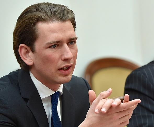 Österreichs Außenminister Sebastian Kurz Foto: MAXIM MALINOVSKY/Getty Images