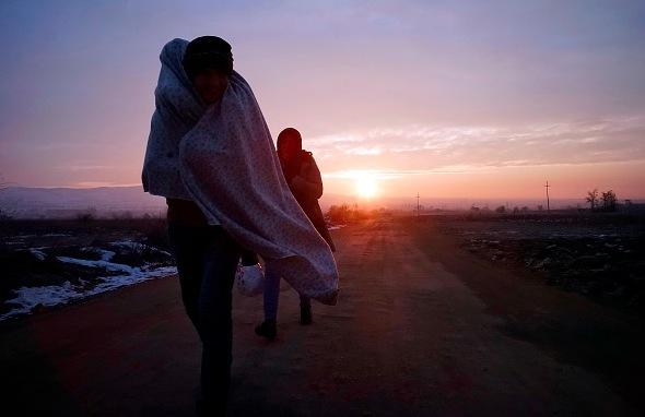 Flüchtlinge auf der Balkanroute Foto:  Milos Bicanski/Getty Images