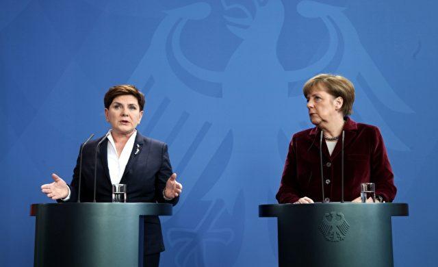 Beata Szydlo und Angela Merkel am 12.02.2016 Foto: über dts Nachrichtenagentur