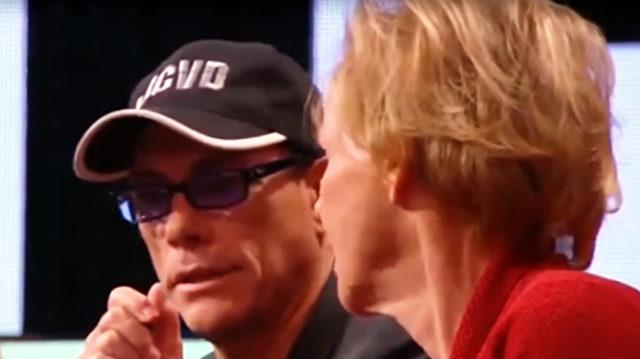 Jean-Claude van Damme im französischen Fernsehen. Foto: YouTube Screenshot / info&verite