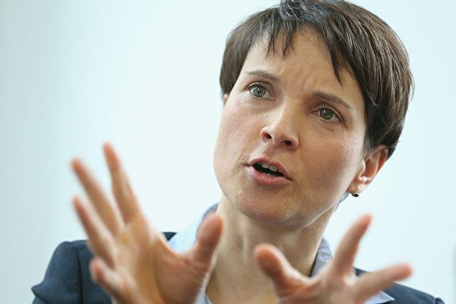AfD-Chefin Frauke Petry schindet Sendezeit für ihre Partei, wo sie kann. Foto: Sean Gallup/Getty Images
