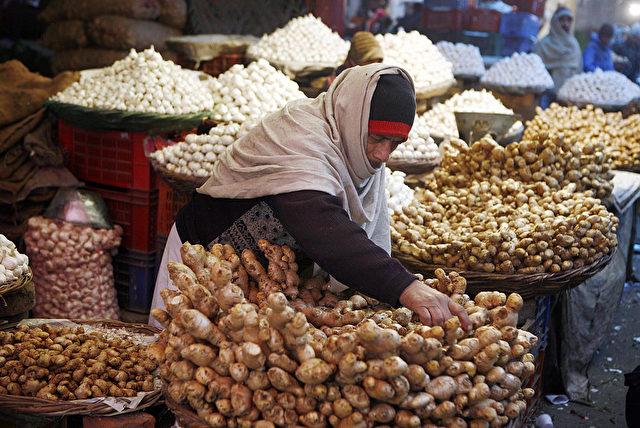Ingwer auf einem indischen Markt Foto: MANPREET ROMANA/AFP/Getty Images