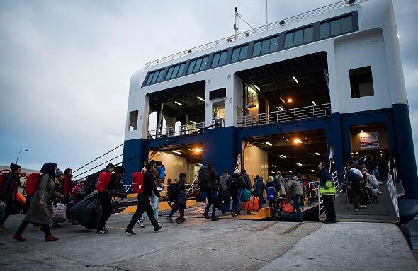 Flüchtlinge in Griechenland Foto: Alexander Koerner/Getty Images